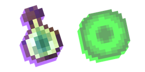 Minecraft Bottle o' Enchanting and Experience Orb Cursor