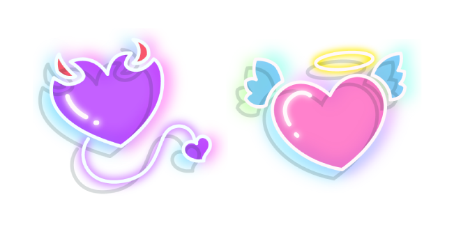 Neon Devil and Angel Heart