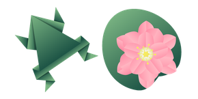 Origami Frog and Water Lily