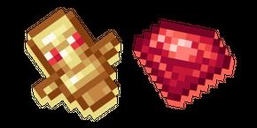 Курсор Minecraft Рубин и Рубиновый Тотем
