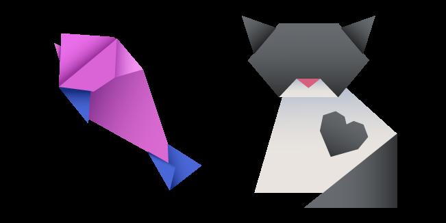 Origami Cat and Fish
