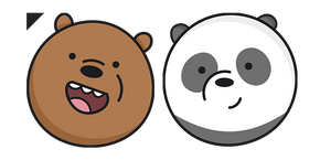 We Bare Bears Grizz and Panda Curseur