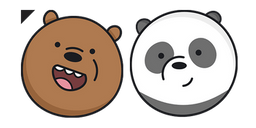We Bare Bears Grizz and Panda Curseur