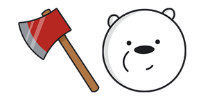 We Bare Bears Ice Bear Fire Axe Curseur