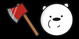 We Bare Bears Ice Bear Fire Axe Cursor