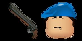 Roblox Arsenal Beret Skin and DB Shotgun Curseur
