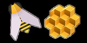 Origami Bee and Honeycomb Cursor