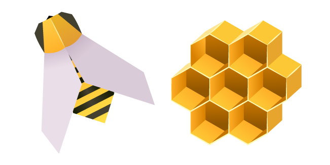 Origami Bee and Honeycomb