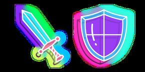 Neon Sword and Shield Cursor