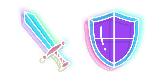 Neon Sword and Shield