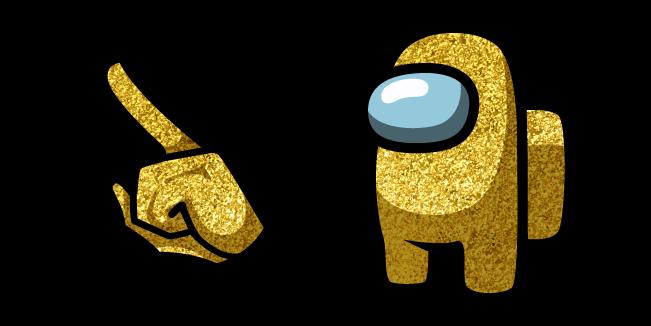 Among Us Gold Glitter Character
