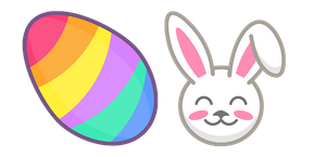 Курсор Colorful Easter Egg and Bunny