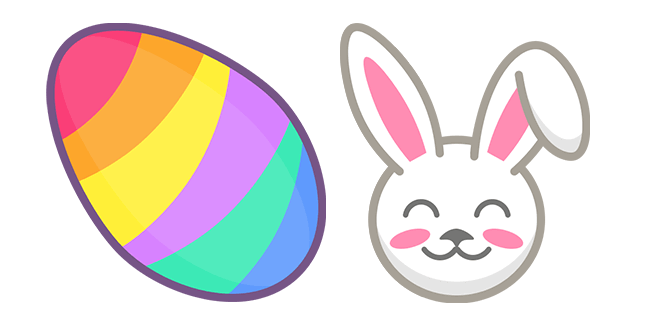 Colorful Easter Egg and Bunny