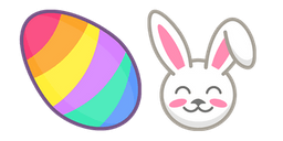 Colorful Easter Egg and Bunny Cursor