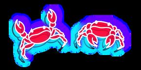 Neon Crab Curseur
