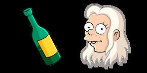 Disenchantment Queen Bean and Bottle Cursor