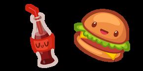 Cute Burger and Coca-Cola Cursor