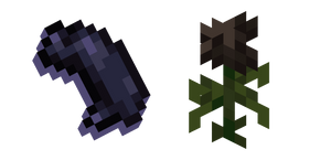 Minecraft Wither Rose and Black Dye Cursor
