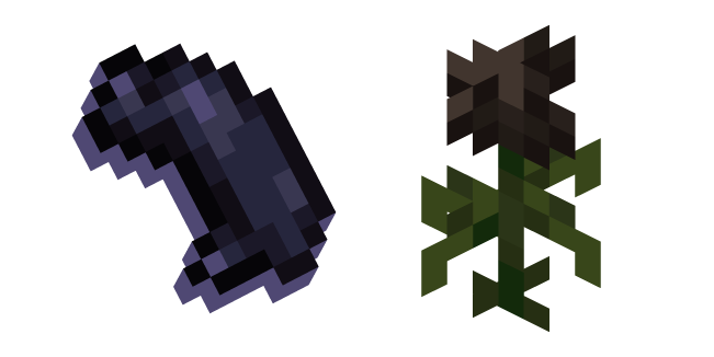 Minecraft Wither Rose and Black Dye