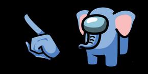 Among Us Elephant Character Cursor
