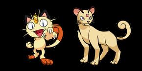 Pokemon Meowth and Persian Curseur