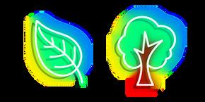Neon Tree and Leaf Cursor