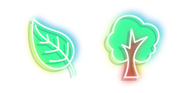 Neon Tree and Leaf