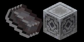 Minecraft Netherite Ingot and Lodestone Cursor