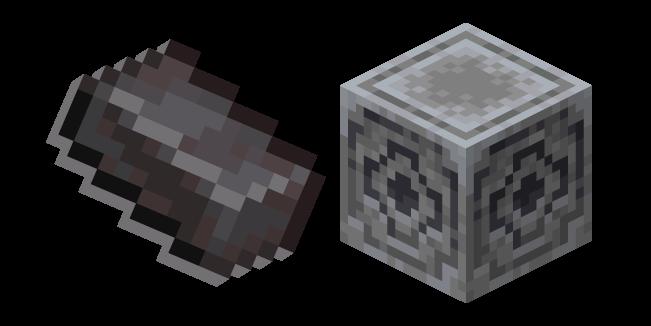Minecraft Netherite Ingot and Lodestone