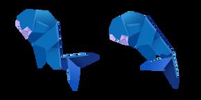 Origami Whale Cursor