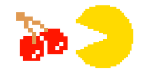 Pixel Pac-Man and Cherry Cursor