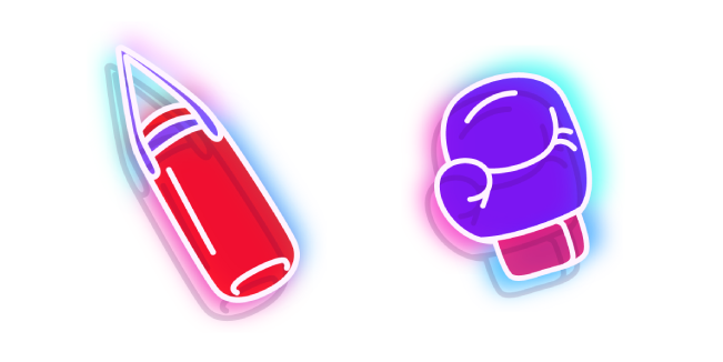 Neon Punching Bag and Boxing Glove
