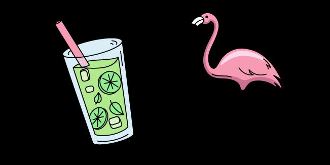 VSCO Girl Flamingo and Lemonade