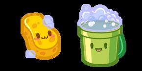 Cute Sponge and Bucket Curseur