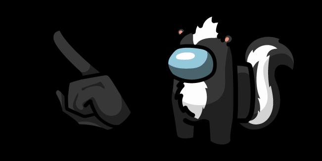 Among Us Skunk Character