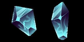 Blue Fluorite Crystal Cursor