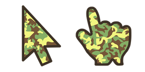 Курсор Green Brown Camo