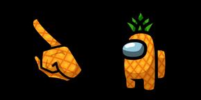 Among Us Pineapple Character Cursor