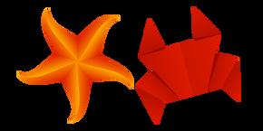 Origami Crab and Starfish Cursor