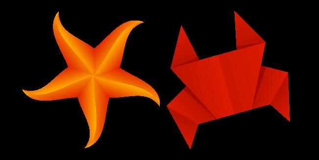 Origami Crab and Starfish