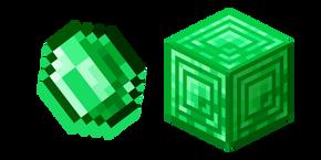 Minecraft Emerald and Block of Emerald Cursor