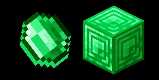 Minecraft Emerald and Block of Emerald