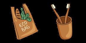 VSCO Girl Eco Bag and Toothbrush Curseur