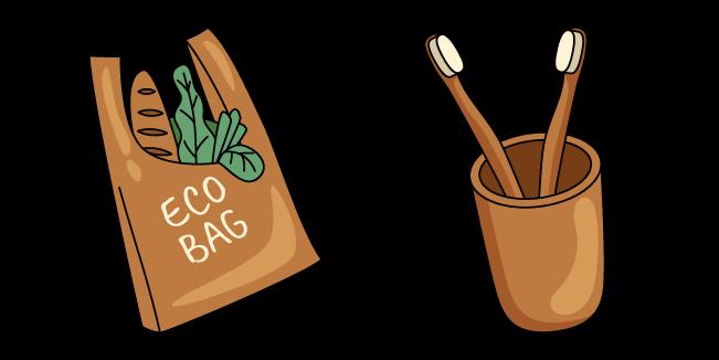 VSCO Girl Eco Bag and Toothbrush