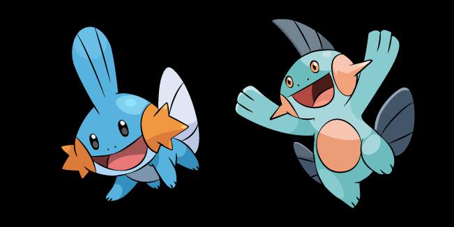 Pokemon Mudkip and Marshtomp