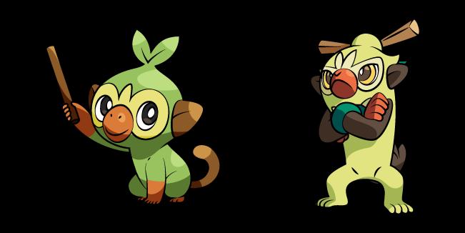 Pokemon Grookey and Thwackey