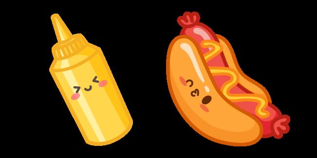Cute Hot Dog and Mustard