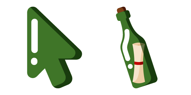 Minimal Bottle with Message