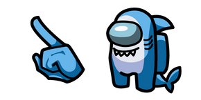 Among Us Shark Character Cursor