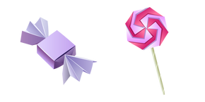 Origami Candy and Lollipop Cursor